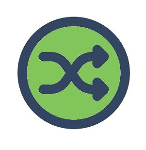 crossing arrows icon