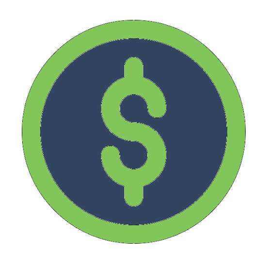 coin with dollar sign icon