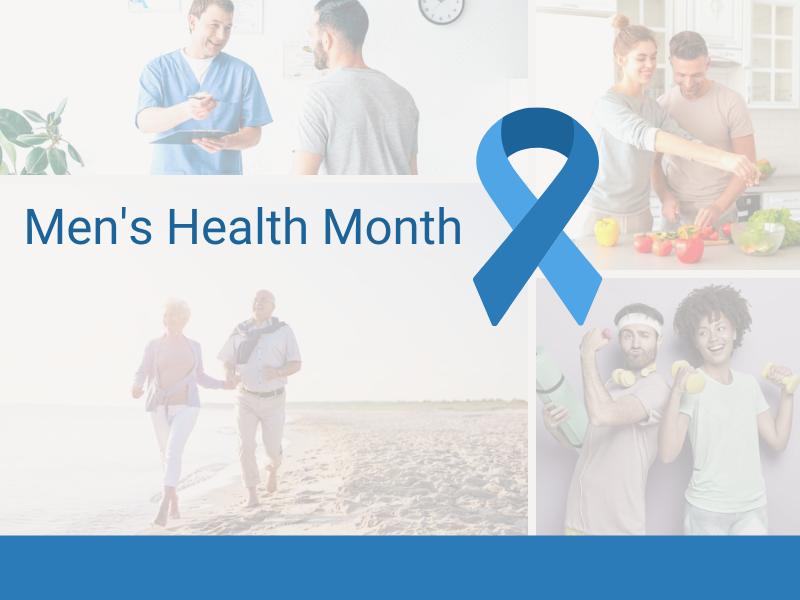 Photos showing women and men partnering in men's health